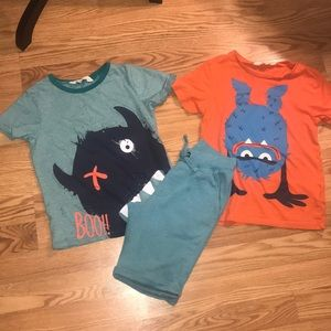 BOYS PLAYDATE OUTFIT by H&M, Two Shirts & Shorts!